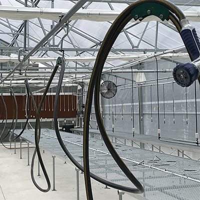 greenhouse hose trolley