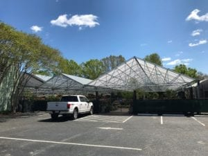 Hyams with new greenhouses